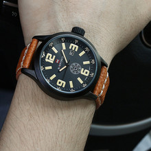 Watch men NAVIFORCE Luxury Brand Leather Strap Analog Date Men's Quartz Watch Casual Clock Male Wristwatches relogio masculino