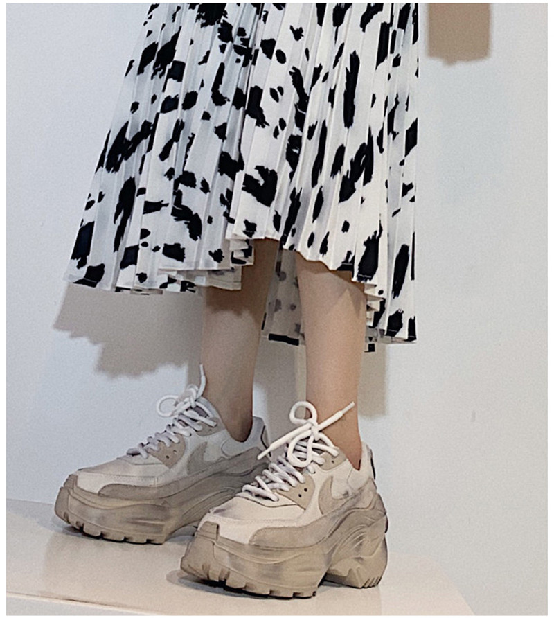 2019 Spring Autumn Shoes Women Platform Shoes Lady Lace Up Casual Pumps Creepers Harajuku Punk Sneakers Girl Female Silver Shoes (10)