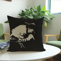 Linen Cotton Michael Jackson Cushion Cover Home Decor Pillow Case Home Textile Capas Para Almofadas