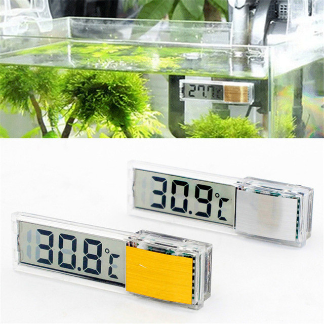 Аквариумный термометр ЖК дисплей цифровой электронный аквариум 3D температура метр стикеры Рыба Креветки черепаха