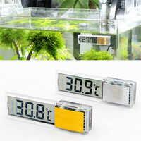 Aquarium Thermometer LCD Digital Electronic Fish Tank 3D Digital Temperature Meter Sticker Fish Shrimp Turtle acuario