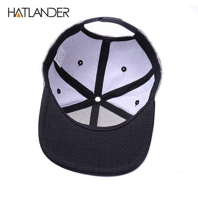 HATLANDER gorra de béisbol Original para hombre gorra de béisbol con calavera de bordado de marca gorra de hip hop de 6 paneles 5
