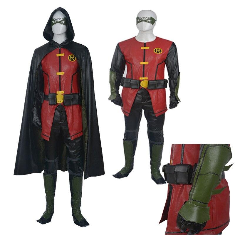 2016 nouveau Costume Original de haute qualité jeune juge Robin Cosplay tenue personnalisée cape Hallowmas