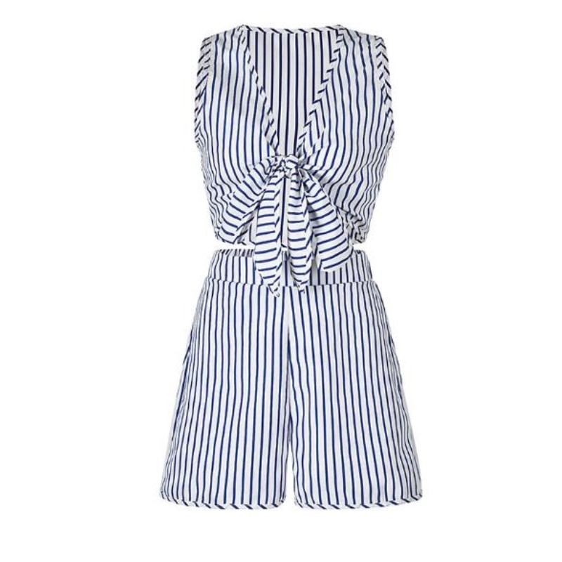 summer clothes for women 2 piece sets 2018 plus size shorts sets casual  outfits striped crop top and shorts matching set AJ7912-in Women s Sets  from Women s ... 82809de505ba