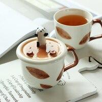 Ceramica tazza di caffè con Coperchio del supporto del telefono Mobile bere Tazza