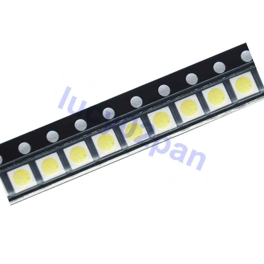 100PCS/LOT EVERLIGHT LED 1W 3030 3V Lamp Beads LCD TV Backlight Lamp Beads Cool White With Zener Pressure For TV Repair
