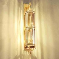 Сад 100 см большой напольный светильник Настенный светильник 3 6 лампы под старину Медь отель двор большой светодиодный Водонепроницаемый от