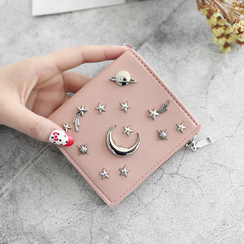 Women's 20% Simple Cross Pure Color Soft Star Star Wallet 2018 New Style Women's Wallet 2