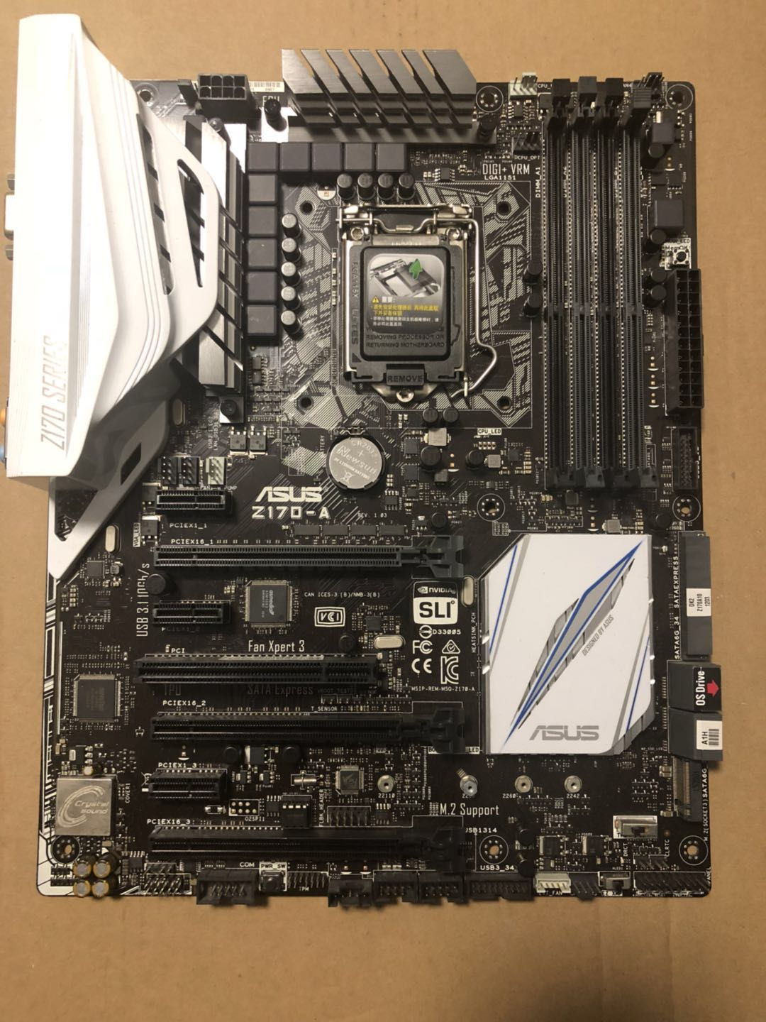 Z170-A Game Motherboard DDR4 Support I5-6600K I7-6700K Used 90%new