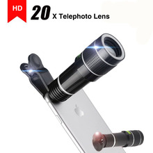 2018 NEW Arrival HD 20X Telephoto Lens Universal Phone Zoom Optical Telescope Camera Lenses for Redmi 5 plus/note 4x/note 4