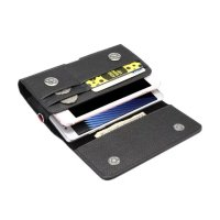 Vertical Horizontal Strap Belt Clip Dual Mobile Phone Leather Case Card Pouch For Bluboo Maya Dual