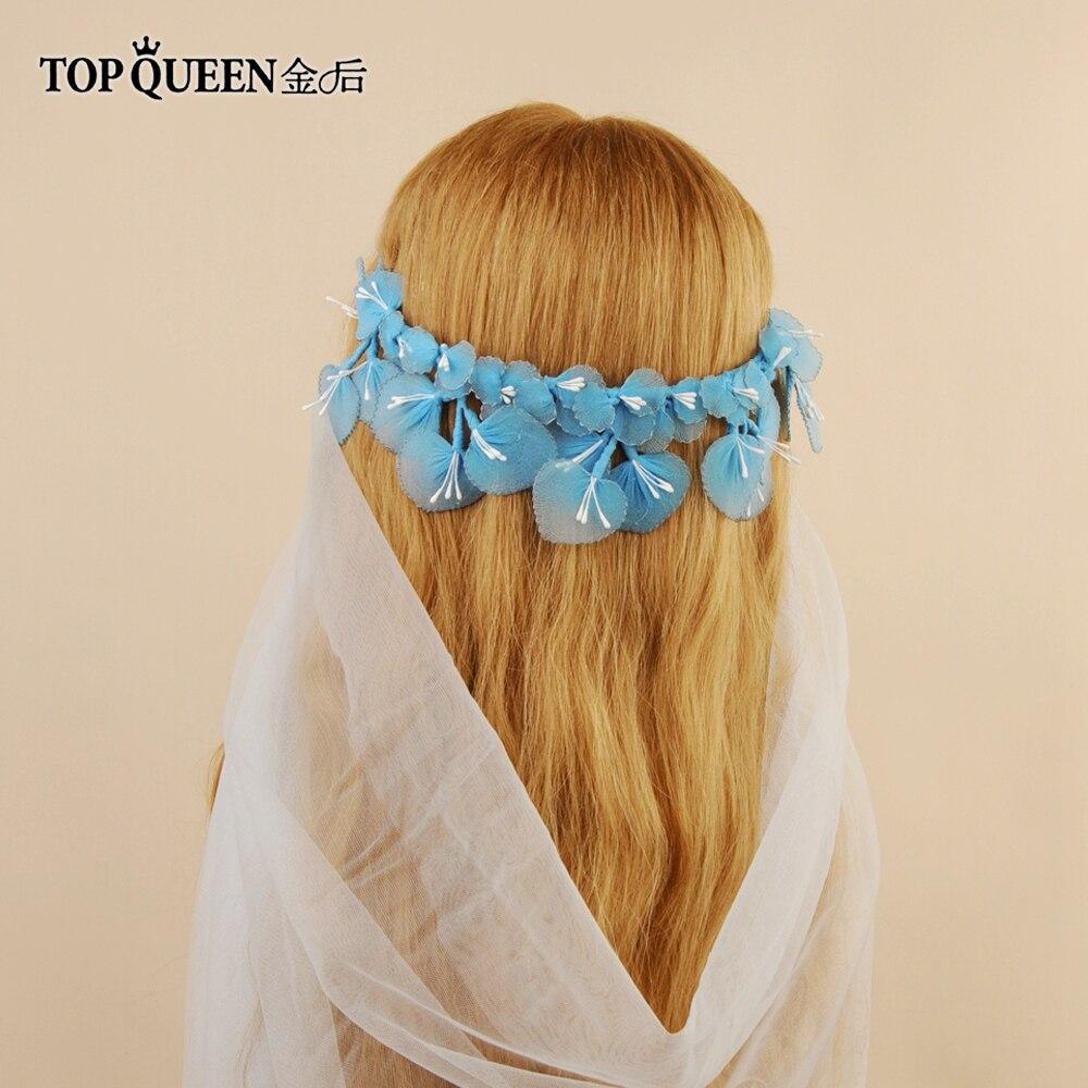 TOPQUEEN HP185 Wedding Tiara And Crown Bride Hair Jewelry Handmade Yarn Lace Bridal Crown Wedding Hair Accessories Bridal Tiara