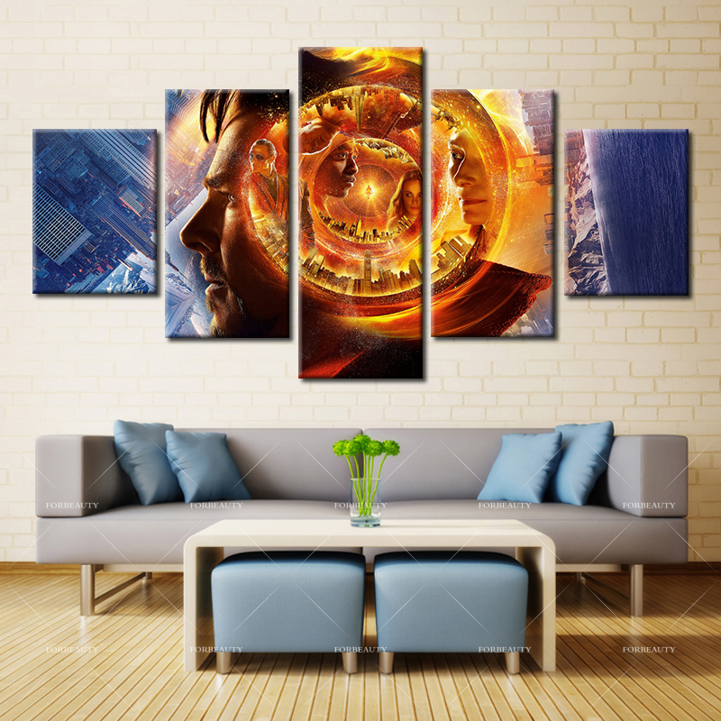 Forbeauty 5 piece canvas painting home decor spray for Home decoration pieces