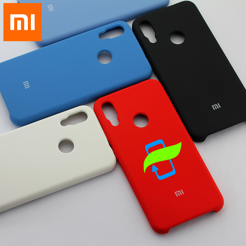 Xiaomi Redmi Note 7 Case Soft Liquid Silicone Protector Case For XIAOMI Mi 9 Max3  PocoPhone F1 A2 Lite Silicone Back Cover Case-in Fitted Cases from Cellphones & Telecommunications