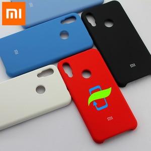 Image 1 - Xiaomi Redmi not 7 durumda sıvı silikon koruyucu kılıf için XIAOMI Mi 9 Pro Max3 PocoPhone F1 A2 Lite silikon arka kapak kılıf