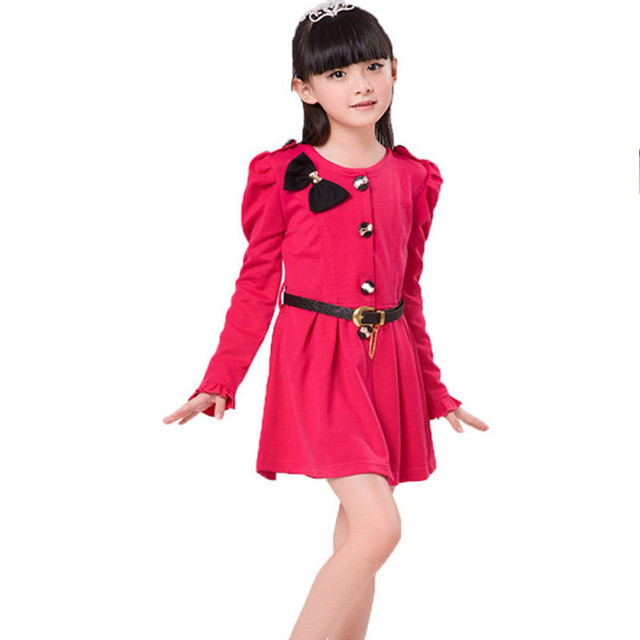 a6b0460e7cce3 US $15.33 41% OFF|Long Sleeve Girl Dress Fashion Autumn New Kids Clothes  Toddler Casual Enfant Tutu Children Clothing Vestidos Party Dresses Baby-in  ...