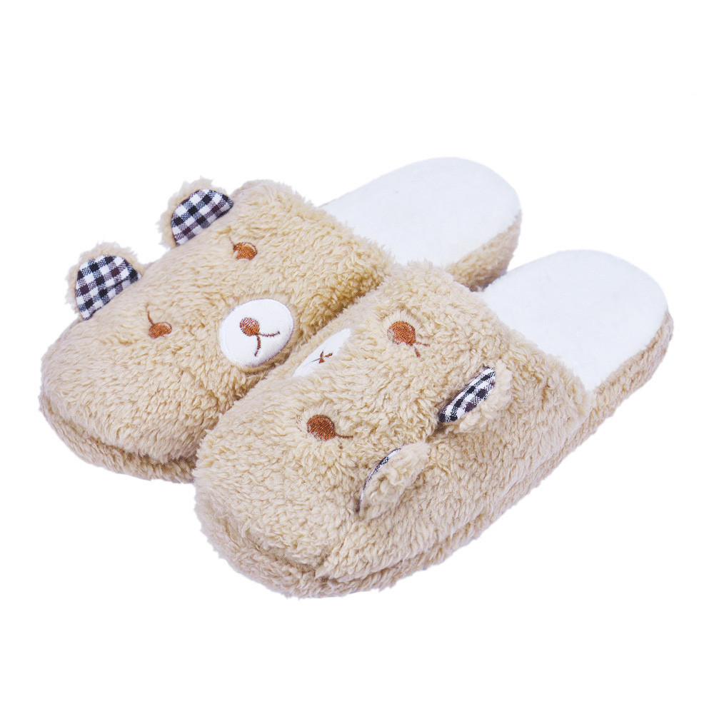 SAGACE  Women New Fashion Women Shoes Lovely Bear Home Floor Soft Cotton-padded Slippers Girls Winter Female Indoor SlippersSAGACE  Women New Fashion Women Shoes Lovely Bear Home Floor Soft Cotton-padded Slippers Girls Winter Female Indoor Slippers