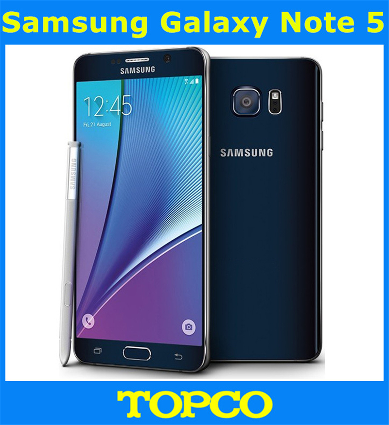 Samsung Galaxy Note 5 Note5 N920A/N9200  Original Unlocked GSM Android Mobile Phone 4GB RAM 32GB ROM Octa Core 5.7