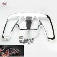 Chrome Aluminum Motorcycle Trunk Luggage Rack case for Honda Goldwing GL1800 2001 2011