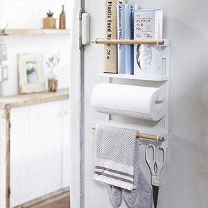 Image 3 - Nordic Metal Iron Storage Shelf Magnet adsorption refrigerator Condiment bottles Sundries Storage Holders Organizer for Home