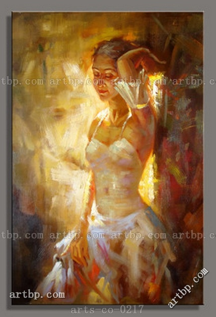 Modern Hand Painted Art Oil Painting On Canvas Woman Decorative ...