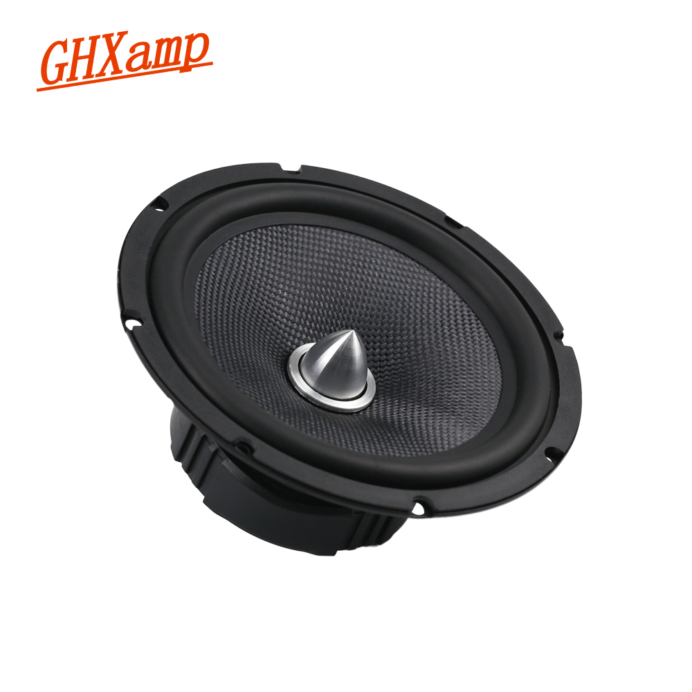 Fiberglass 6.5 INCH Full Range Car Speaker 8OHM 40W Bullet Midrange ,Low Frequency 58HZ Home Theater Speaker Bookshelf 60W 1PCS h 019 fountek fr88ex full range 3 inch hifi speaker amplifier speaker hot sale 84 3db 1w 1m