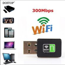 DOITOP 300Mbps USB 2.0 Wireless Wifi Adapter Dongle 802.11n/g/b Internet Network LAN Card For PC Phone Notebook Laptop O3