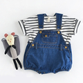 2017 Ins Baby Toddler Girl&boy  Rompers Cute Baby Overalls Summer Cotton Dual Crotch Baby Jumpsuits