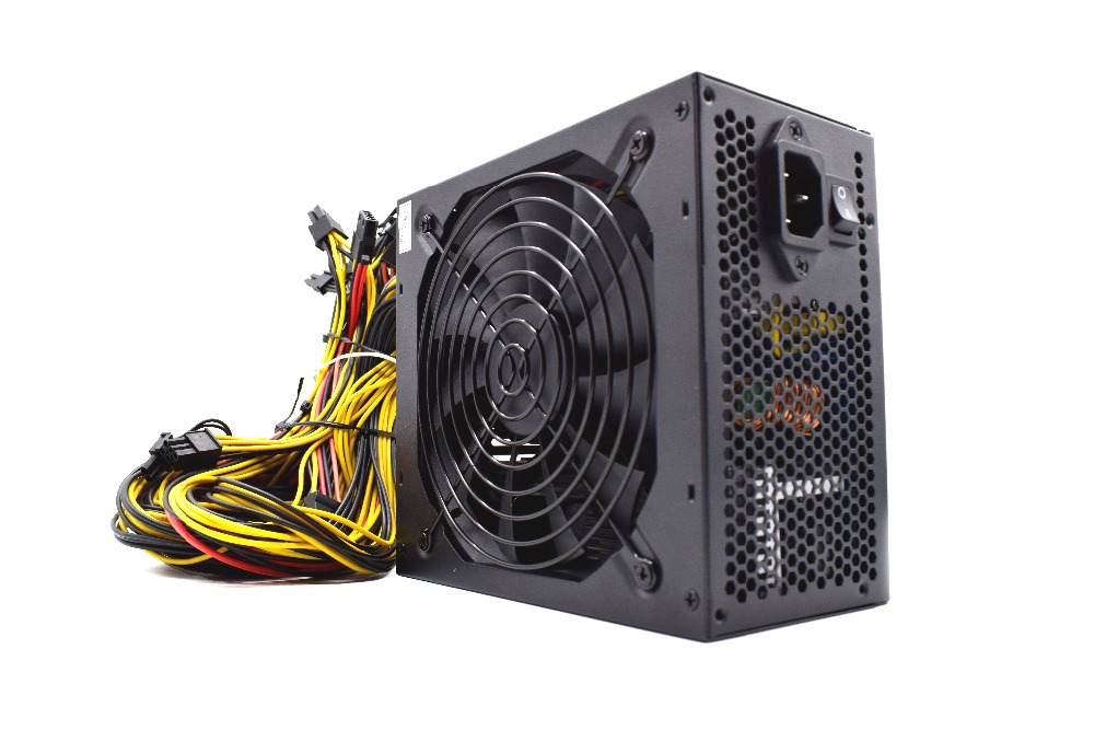 Original 1800W Mining Power Supply 12V 150A suitable for miner R9 380/390 RX 470/480 RX 570/580 6 GPU CARDS 90 PLUS GOLD new original gold power 1800w ethereum eth power supply for r9 380 rx 470 rx480 6 gpu cards 6 months warranty free shipping