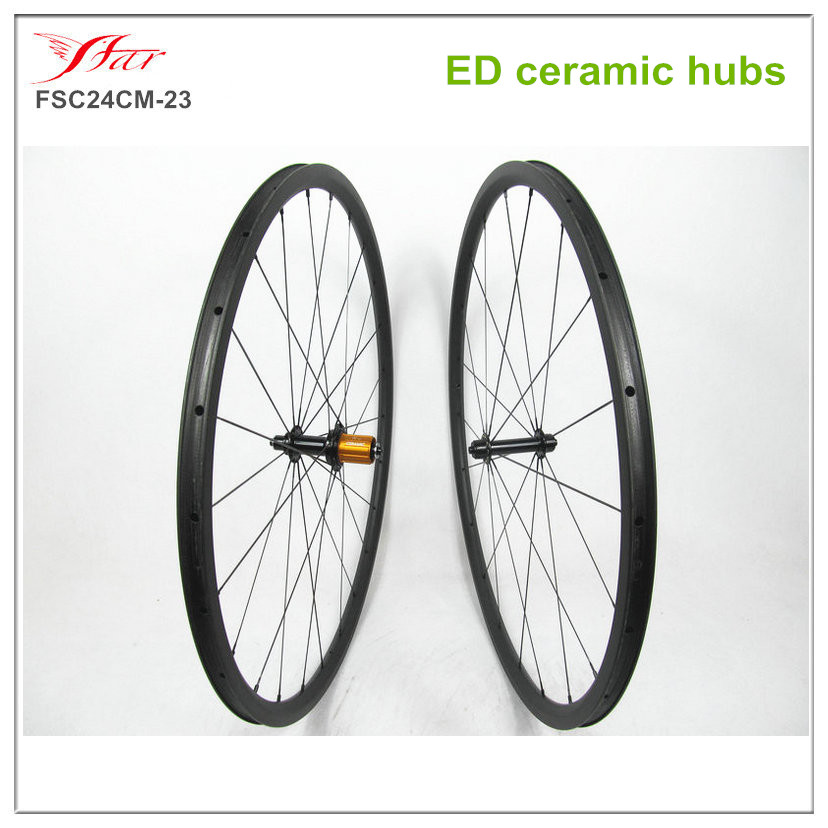 High performance ED hubs ceramic bearing 700C Toray carbon wheels 23mm road bicycle wheels, 24 /30/38/50/60mm depth available