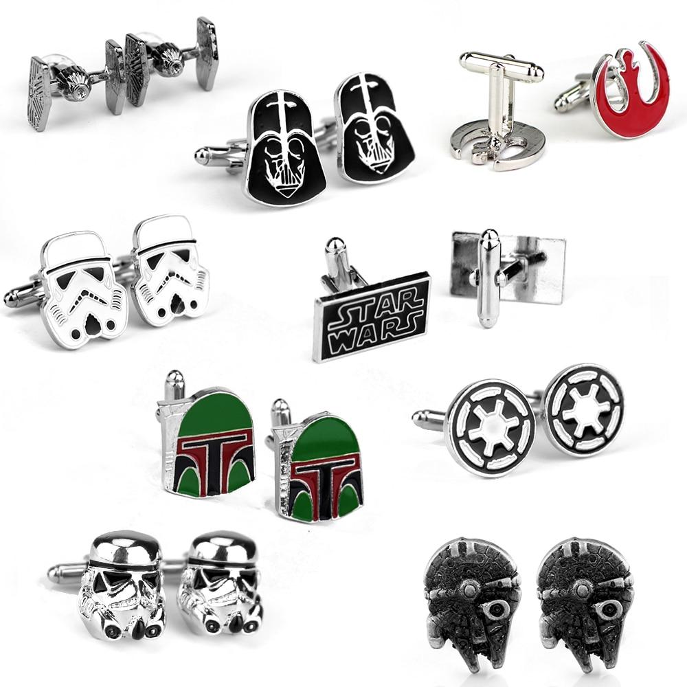 Accessories Cufflinks Tie-Clip Star-Wars-Series Black Enamel Shirt Darth Vader Gifts