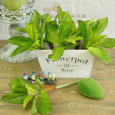 Acheter ( 6 pcs/lote ) 2014 haute qualité simulation vert fougères décoration de feuille de la plante artificielle plantes faux laisse décorations de leaf decoration fiable fournisseurs