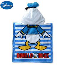 Disney Mickey Mouse Minnie Children Cotton Hooded Towel Cloak Cartoon Cars Child Boys Girls Quick-drying Bath Face