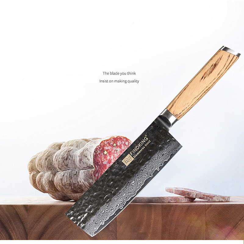 Findking New Zebra Handle 6 5 inch Professional Kitchen Knife Damascus Steel Chef Knife 67 layer