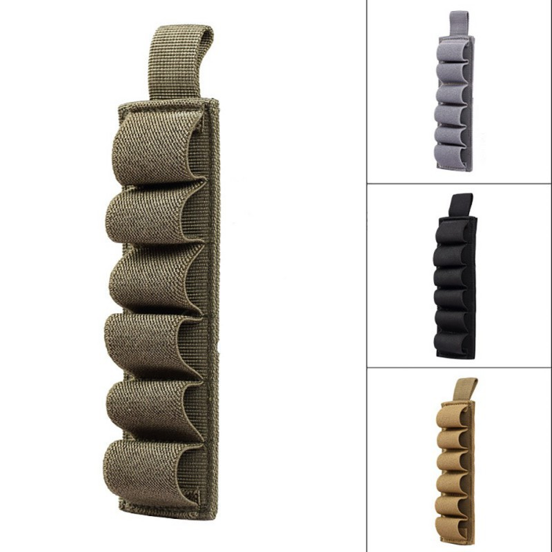 Tactical Hunting Hook Loop 6 Rounds Shell Holder Shotshell Insert Card Strip With Adhesive Back For 12 Gauge