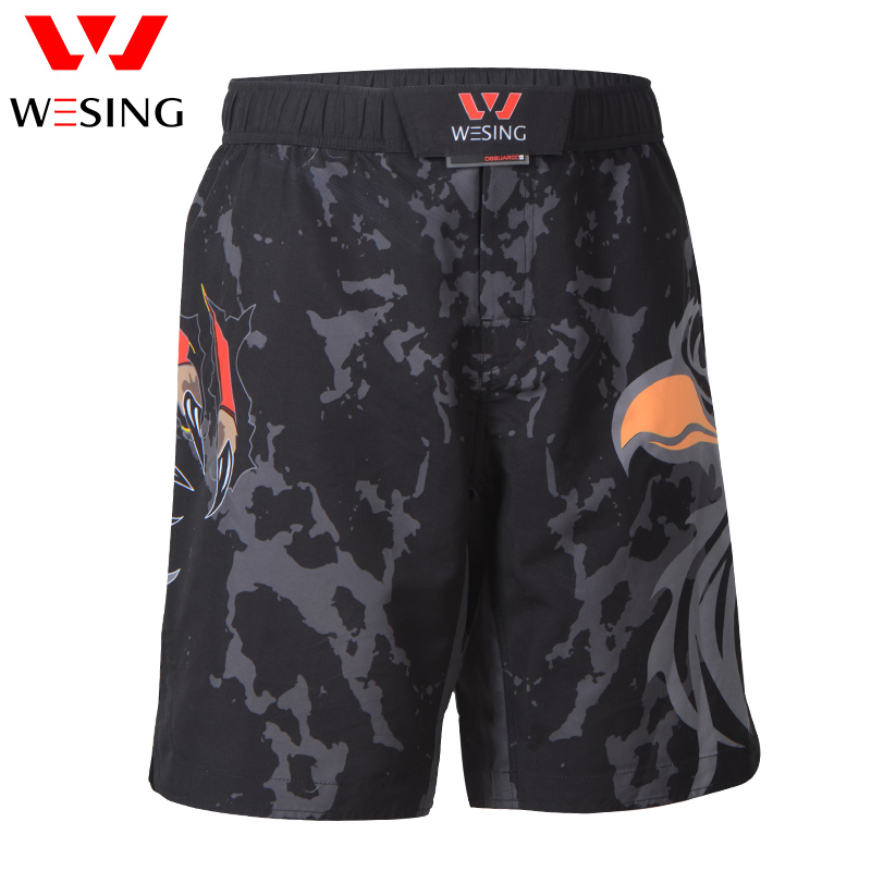 Wesing MMA Muay Thai Shorts with Large Size for Boxing Training Muay Thai Fighting Men