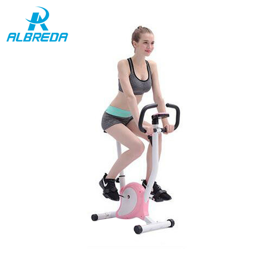 ALBREDA New Fitness Equipment Household low noise magnetron spinning /indoor cycling bike fitness bike display adjustable knob healthy soho office spinning bicycle super mute household magnetic bike with table back pedal fitness equipment dynamic bike