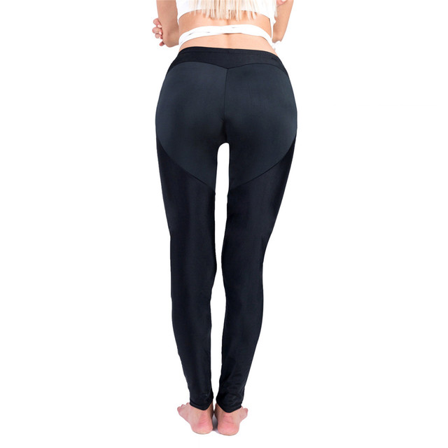 Pure color Splicing Peach buttock Comfortable Ventilation tayt pants workout leggings women shein joggers women fitness legging