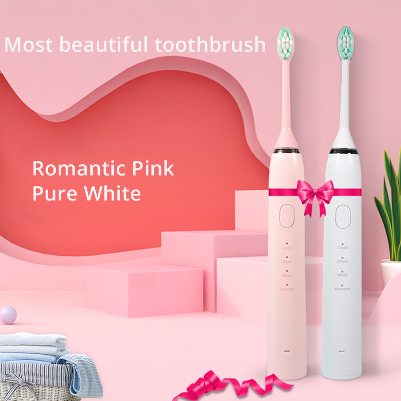 Beautiful Electric Toothbrush Inductive Rechargeable Toothbrush With Face Brush IPX7 Waterproof