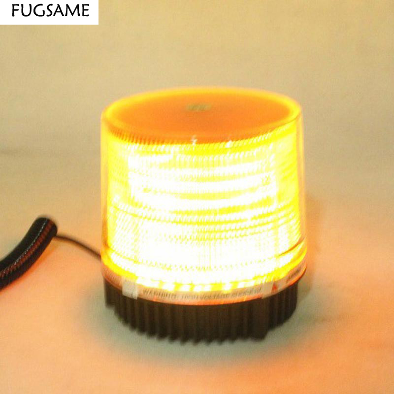 FUGSAME Free Shipping, car Ceiling light high power red blue led car lights round roof lights warning light refires