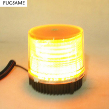 Free Shipping, car Ceiling light high power red blue led  lights round roof warning refires