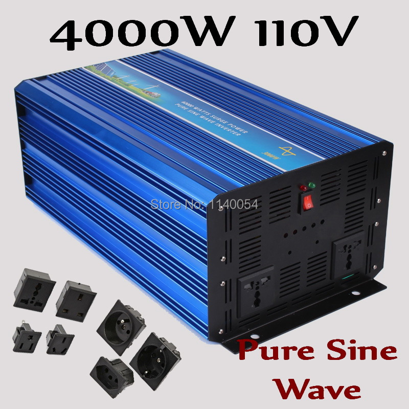 HOT SALE!! 4000W Off Grid Inverter Pure Sine Wave Inverter 110V DC Input Solar Wind Power Inverter 4000W with Surge Power 8000W 6000w off grid inverter pure sine wave inverter 110v dc input solar wind power system inverter 6000w with 12000w surge power