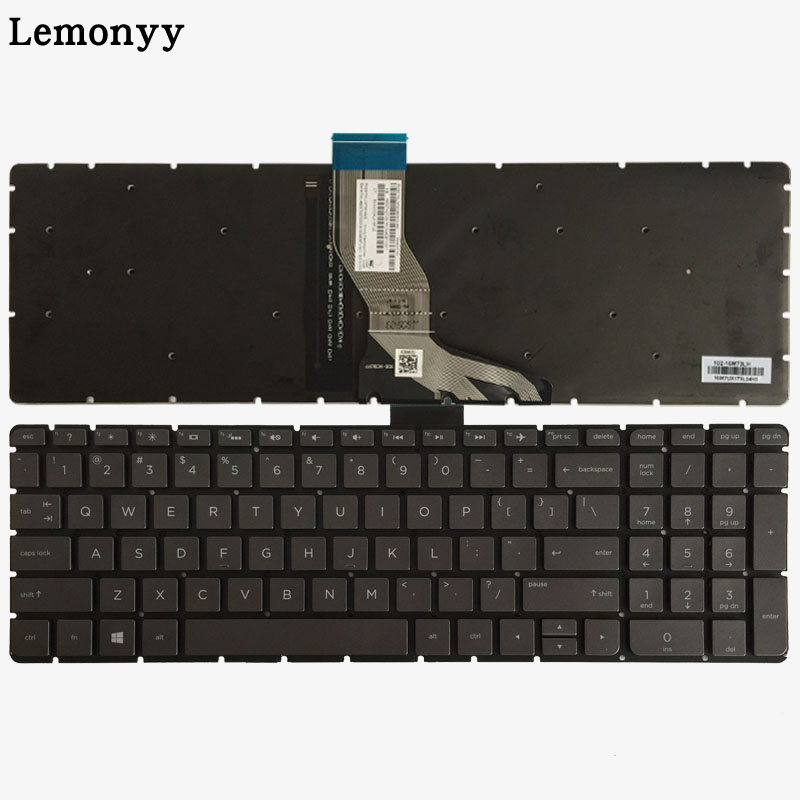 US Grey keycap Laptop Keyboard for <font><b>HP</b></font> 15-ab 15-ak 15-bc 15-ab000 15-ab100 15-ab200 15z-ab100 15z-ab 15AK 15bc <font><b>15AB</b></font> with Backlit image