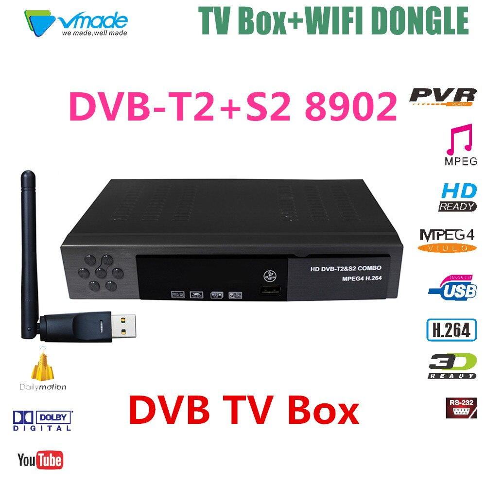 Full HD DVB T2 S2 Combo WIFI Satellite font b Receiver b font Support Cccam Youtube