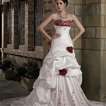 cecelle White Red Wedding Dresses With High End Colorful