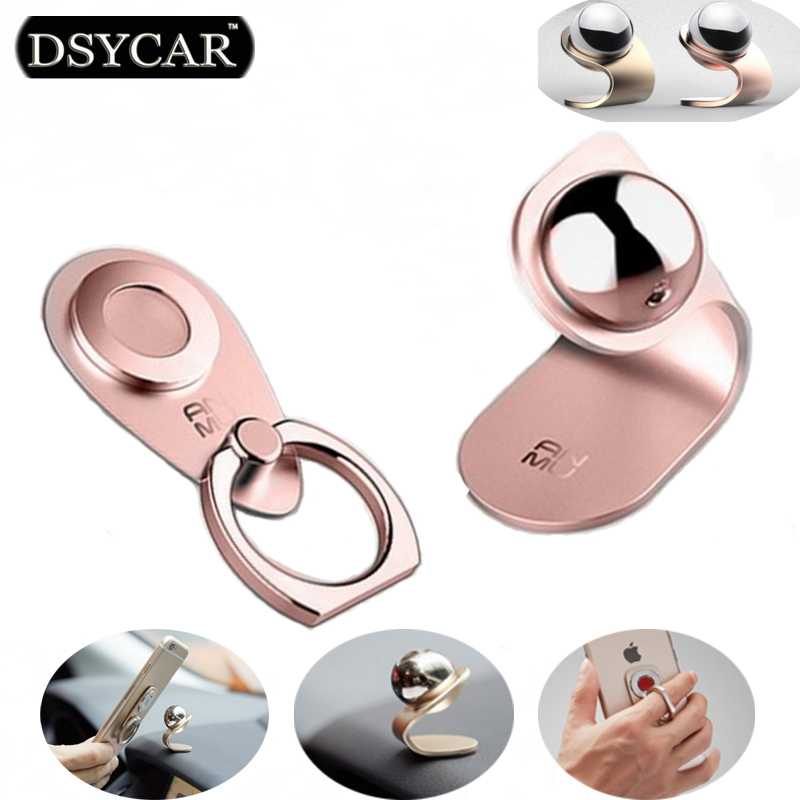 DSYCAR Mobile Car Phone Holder Magnetic 360 Degree Finger Ring Stand Car styling For Fiat