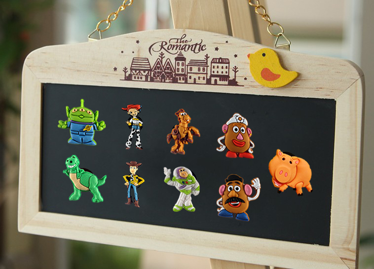 9pcs Toy Story fridge magnet Home Decoration school office magnestic supplies stationery kid party Toys travel bags accessories