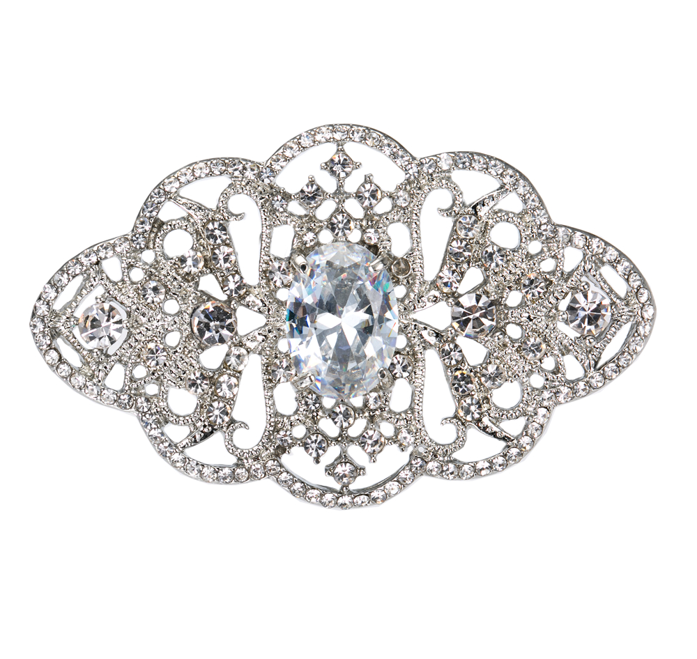 2.2-palčni vintage videz kristalno bronasti nakit za poročne - Modni nakit - Fotografija 4