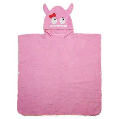 3 цвета, детский пляжный Халат с капюшоном с изображением слона, монстра и щенка из мультфильма - Цвет: pink monster