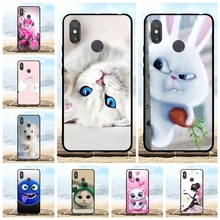 For Xiaomi Mi Max 3 Cover Ultra-slim Soft TPU Silicone Case Lion Patterned Coque Shell